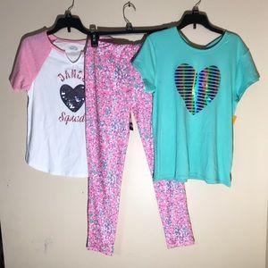 Bundle of 3, 2 tops & 1 pair of pants fast dry